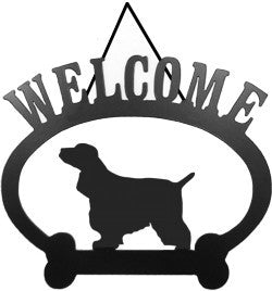 Sweeney Ridge English Cocker Spaniel Welcome Sign