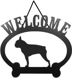 Sweeney Ridge Boston Terrier Welcome Sign