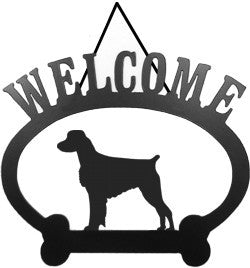 Sweeney Ridge Brittany Spaniel Welcome Sign