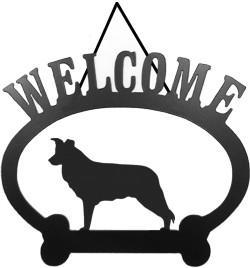 Sweeney Ridge Border Collie Welcome Sign