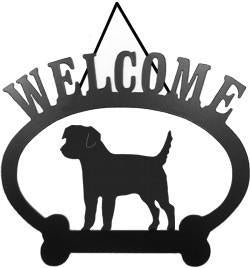 Sweeney Ridge Border Terrier Welcome Sign