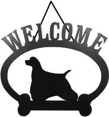 Sweeney Ridge American Cocker Spaniel Welcome Sign