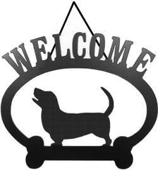 Sweeney Ridge Basset Hound Dog Welcome Sign