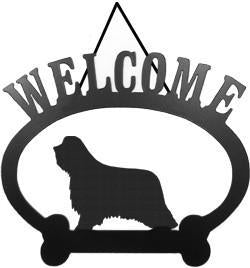 Sweeney Ridge Bearded Collie Welcome Sign