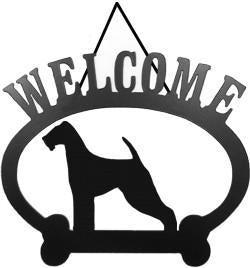Sweeney Ridge Airedale Welcome Sign