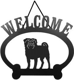 Sweeney Ridge Pug Welcome Sign