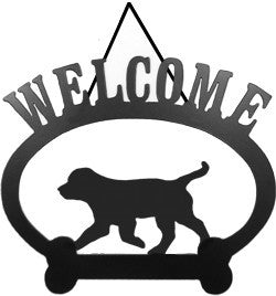 Sweeney Ridge Trotting Puppy Welcome Sign