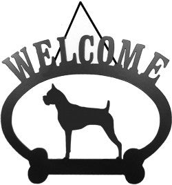Sweeney Ridge Boxer Welcome Sign
