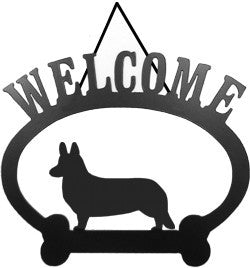 Sweeney Ridge Corgi Cardigan Welcome Sign