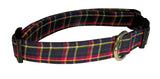 Elmo's Closet English Plaid Dog Collar