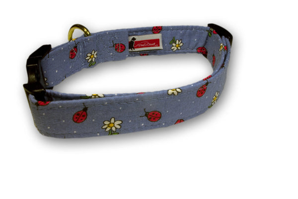 Elmo's Closet Lady Bugs Dog Collar