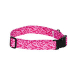 Elmo's Closet Pink Filigree Dog Collar