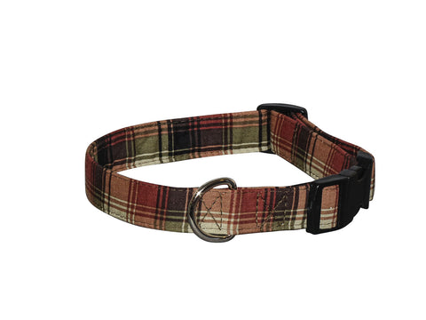 Elmo's Closet Hunter Plaid Dog Collar