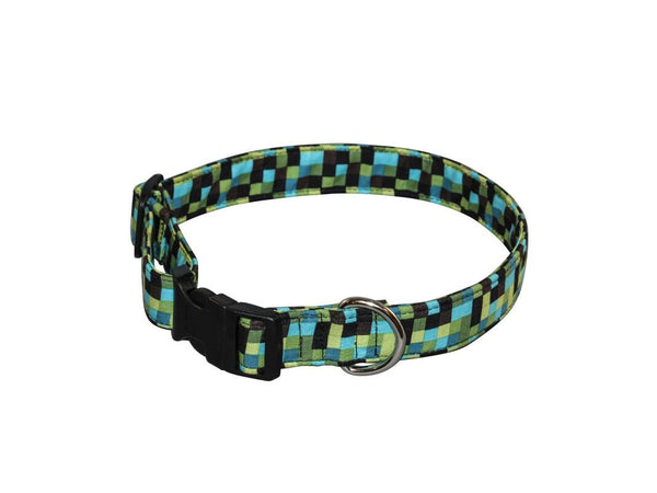 Elmo's Closet Bedrock Check Dog Collar