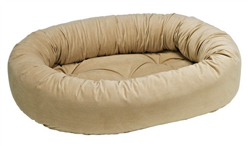 Bowsers Almond Microvelvet Donut Dog Bed