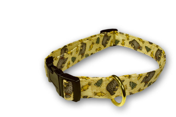 Elmo's Closet Bear Lodge Dog Collar