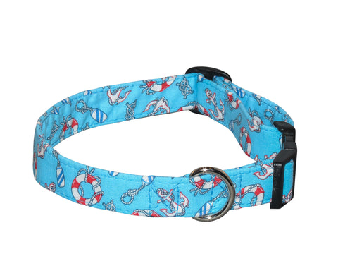 Elmo's Closet Nautica Dog Collar