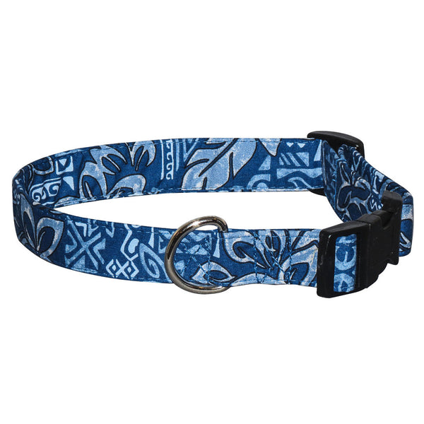 Elmo's Closet Tropical Blues Dog Collar