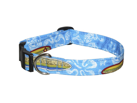 Elmo's Closet Surfer Dude Dog Collar