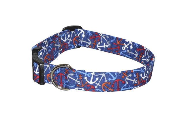 Elmo's Closet Dropping Anchor Dog Collar