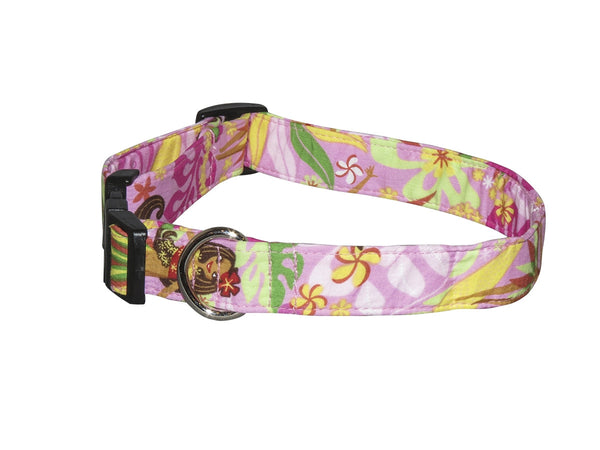 Elmo's Closet Hula Girl Dog Collar