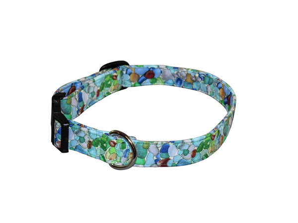 Elmo's Closet Sea Glass Dog Collar