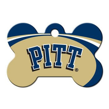 Pittsburgh Panthers NCAA Custom Engraved Dog ID Tag - Bone