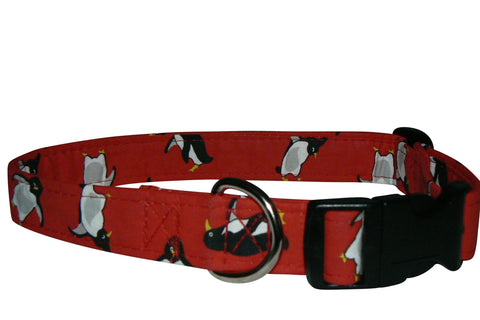 Elmo's Closet Penguins Dog Collar