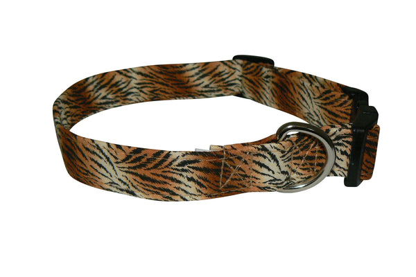 Elmo's Closet Tiger Dog Collar