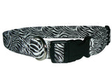 Elmo's Closet Zebras Dog Collar