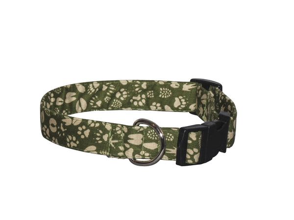 Elmo's Closet Animal Tracks Dog Collar
