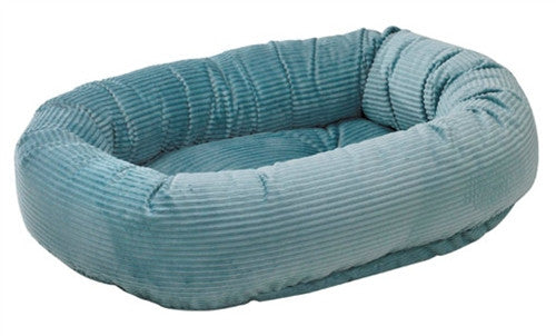 Bowsers Bayou Blue Corduroy Donut Dog Bed