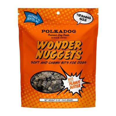 Peanut Butter Wonder Nuggets Soft Dog Training Treats - 8 oz