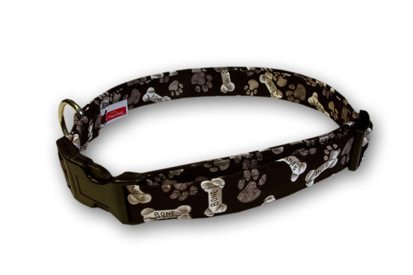 Elmo's Closet Bones & Paws Dog Collar
