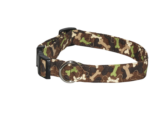 Elmo's Closet Camo Bones Dog Collar