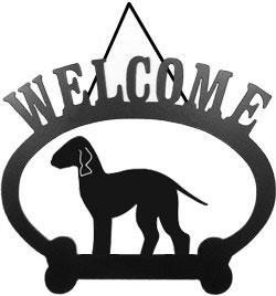 Sweeney Ridge Bedlington Terrier Welcome Sign