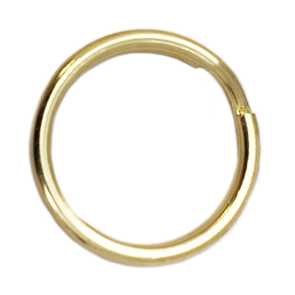 Dog Tag Split Ring Connectors 16MM - Brass (Quantity 65)