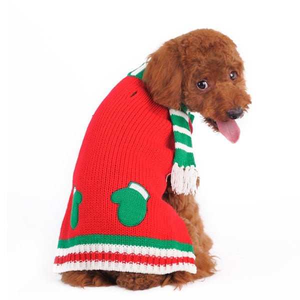 Mitten Scarf Dog Sweater - Outlet Sale Item
