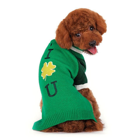 Shamrock Turtleneck Dog Sweater