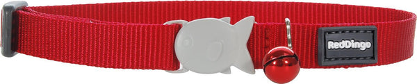 Red Dingo Designer Cat Safety Collar - Classic Red
