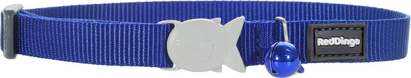 Red Dingo Designer Cat Safety Collar - Classic Dark Blue