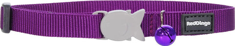 Red Dingo Designer Cat Safety Collar - Classic Purple