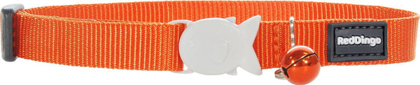 Red Dingo Designer Cat Safety Collar - Classic Orange