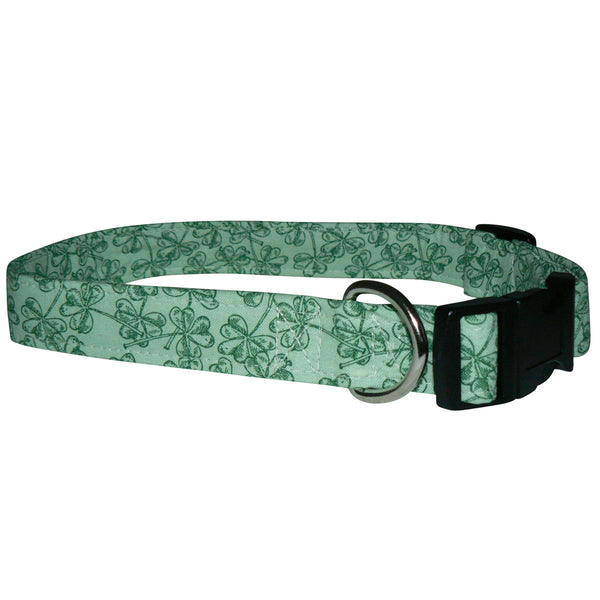 Elmo's Closet Shamrock Impressions Dog Collar