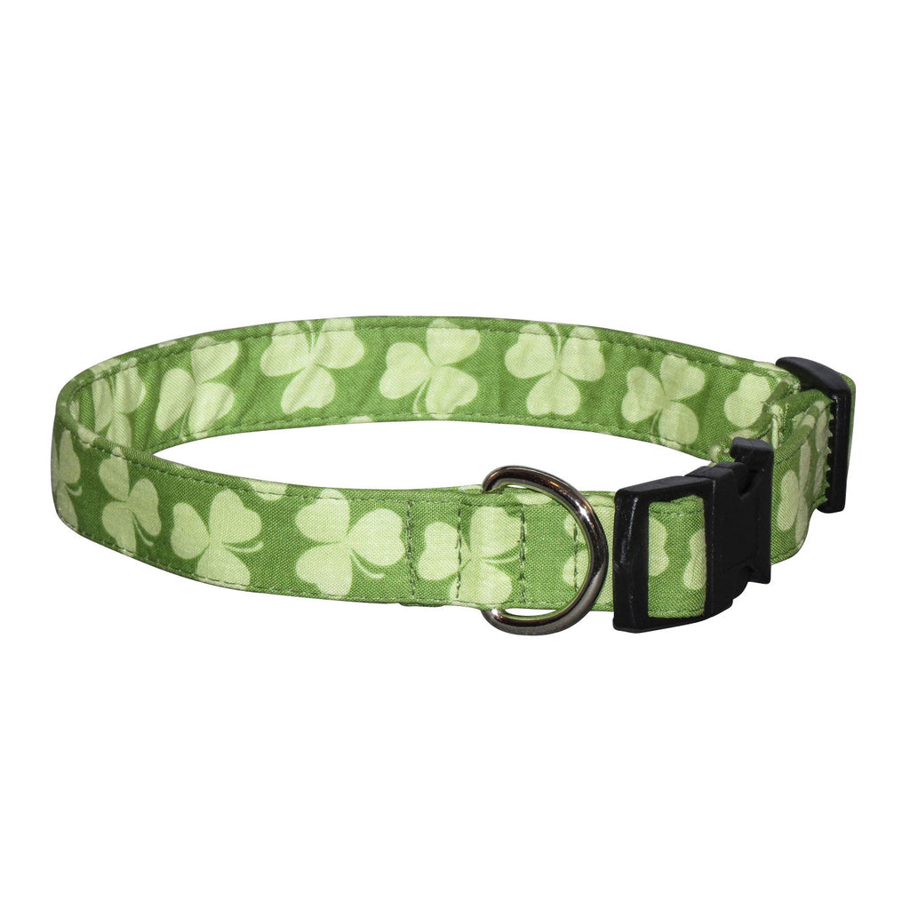 Elmou0027s Closet Shamrock Stripe Dog Collar