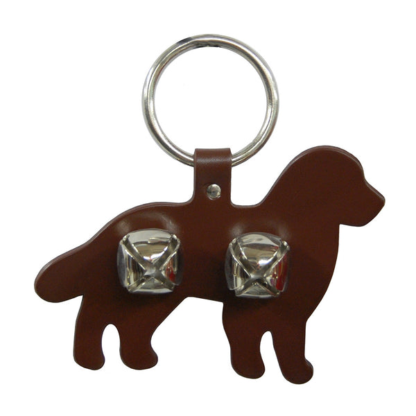 Sleigh Bell Door Hanger - Bernese Mountain Dog (Brown)