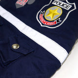Blue Police Dog Jacket With Removable Hood