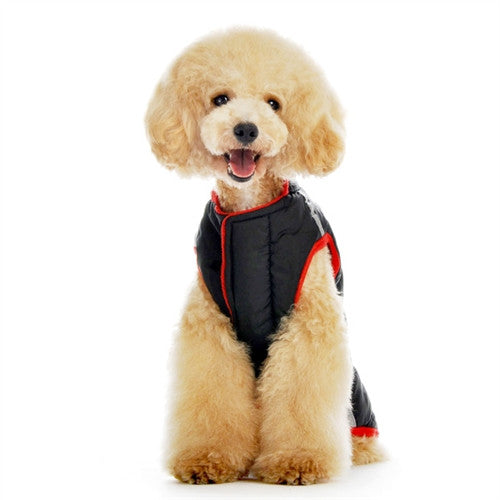 Puffer Dog Jacket - Black