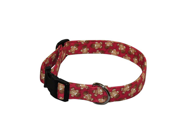 Elmo's Closet Gingerbread On Red Dog Collar