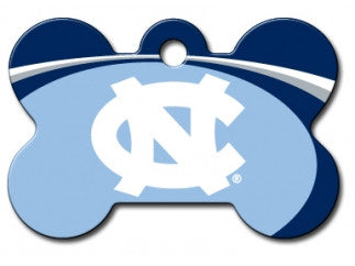 UNC Tarheels NCAA Custom Engraved Dog ID Tag - Bone